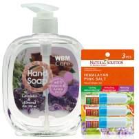WBM Natural Lavender Liquid Hand Soap With Variety Pack Nasal Inhaler