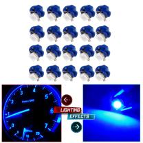 cciyu 20 Pack Car T5 B8.4D 5050 1SMD LED Lamps Dashboard Side Indicator Lights (blue)
