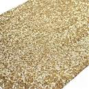 """TRLYC 12"""" x 72"""" Sequined Table Runner - Gold"""