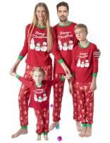 Women 2 Piece Pajamas Sets V Neck Tops and Striped Pants Cotton Nighty Loungewear Christmas PJ Sets