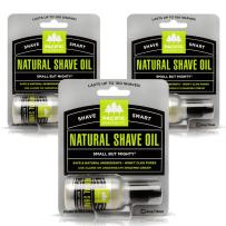 Pacific Shaving Company Natural Shaving Oil - Eliminates Cuts, Nicks, Razor Burn, Soothes & Moisturizes Skin, Reduces Irritation, with Natural & Organic Ingredients, Made in USA.5 oz (3-Pack)