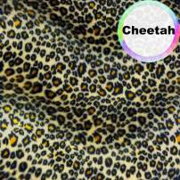 Barcelonetta | Animal Print Fur Fabric | Velboa Fabric | Faux Animal Fur | Short Pile | Animal Texture | 62'' Inch Wide | DIY Crafts, Decoration, Upholstery (Cheetah, 5 Yard)