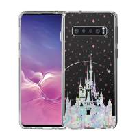 Unov Galaxy S10 Case Clear with Design Soft TPU Shock Absorption Slim Embossed Pattern Protective Back Cover for Galaxy S10 6.1in (Watercolor Castle)