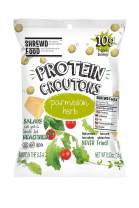 Shrewd Food Keto Protein Croutons, Low Carb, High Protein, Real Cheese, Gluten Free Snacks, No Artificial Flavors, Peanut Free, 14g Protein per Pack, 2g Carbs, Parmesan Croutons, 10 Pack