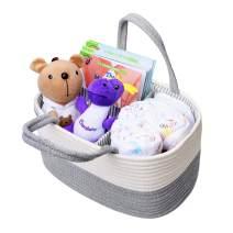 Cotton Rope Baby Diaper Caddy Organizer - Nursery Storage Bin Infant Diaper Organizer for Diaper Wipes Toys Baby Shower