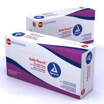 Dynarex Safe-Touch Latex Exam Gloves Powder Free XL 10/100/Cs