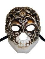 Venetian Full Face Mask Teschio Baroque for Men