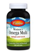 Carlson - Women's Omega Multi, Multiple with Fish Oil, Promotes Brain, Vision & Bone Health, 180 soft gels
