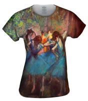 Yizzam- Edgar Degas - Dancers in Blue (1895) -Tshirt- Womens Shirt