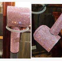 Foho Bright Diamond Sticker Decals for Dyson Supersonic Hair Dryer- Pink Diamond