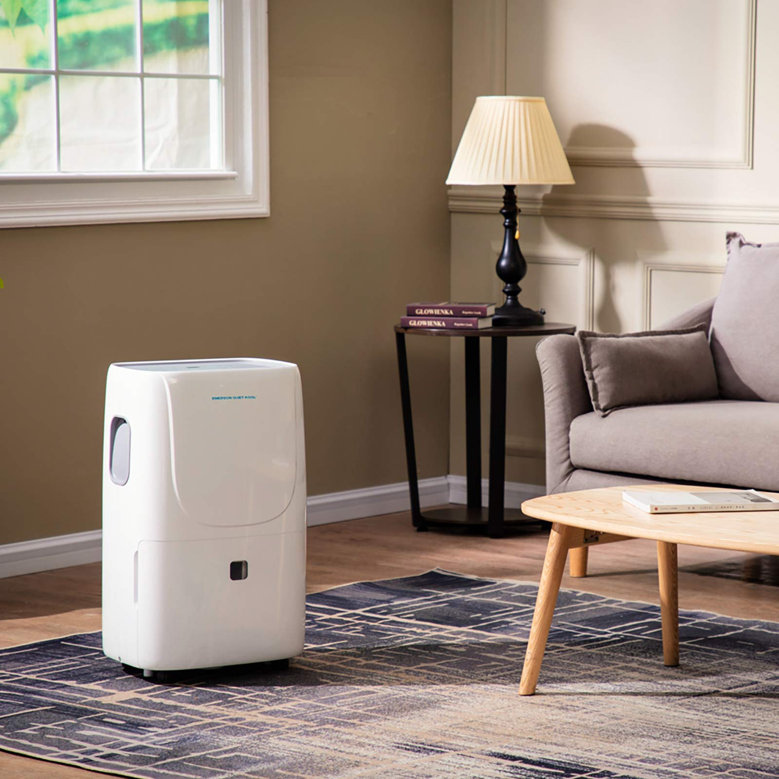 Emerson Quiet Kool High Efficiency 30-Pint Smart Dehumidifier with Wi-Fi and Voice Control, EAD30SE1, White
