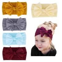 Baby Girl Nylon Headbands Newborn Infant Toddler Turban Hair Band Bows Child bandana Headwrap Hair Accessories