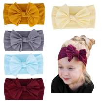 Baby Girl Nylon Headbands Newborn Infant Toddler Turban Hair Band Bows Child bandana Headwrap Hair Accessories