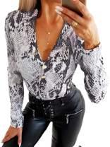 Kaei&Shi Cheetah Bodysuit Leopard Bodysuit for Women Animal Print Leotard Body Suit