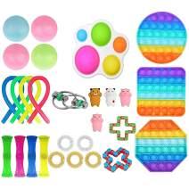 30Pcs Sensory Fidget Toy Set, Fidget Pack Sensory Relieves Stress Anxiety for Kids Adults