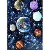 DIY 5D Diamond Painting Square Full Drill Diamond Art by Numbers Kit Diamonds Embroidery for Wall Decor Planets 11.8X15.7inch