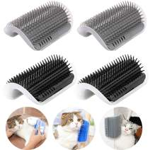 IMISNO Cat Self Groomer with Catnip Pouch,Cats Corner Massage Comb Grooming Brush Tool for Kitten Puppy