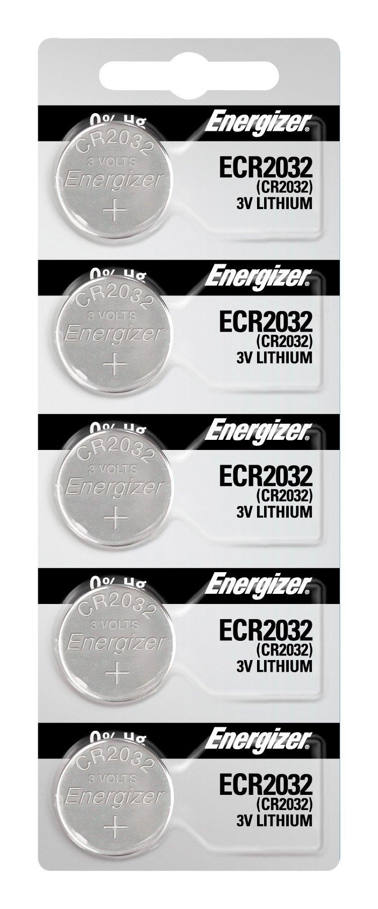 Energizer 2032 Battery CR2032 Lithium 3v (1 Pack of 5)