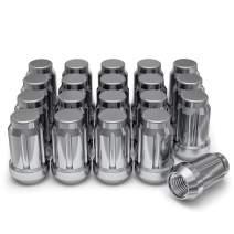 White Knight 3806-20AM Chrome M12x1.25 Spline Lug Nut with Key, 20 Pack