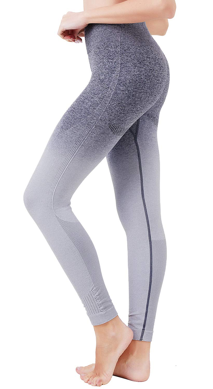 Helisopus Women's Ombre Seamless Leggings High Waisted Workout Pants Active Running Tights