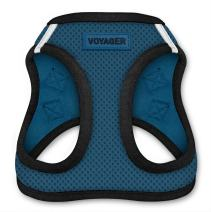 """Voyager Step-In Air Dog Harness - All Weather Mesh, Step In Vest Harness for Small and Medium Dogs by Best Pet Supplies - Blue Base, X-Large (Chest: 21"""" - 23"""")"""