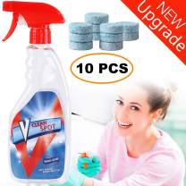 Multifunctional Effervescent Spray Cleaner Set With 1 Spray Bottle and 10PCS Fine Concentrated Solid All Purpose Effervescent Spray Cleaning (10pcs with Bottle)