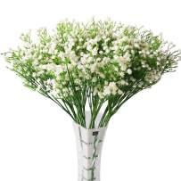 Nerseki Artificial Baby Breath Gypsophila Flower Wedding Home Decor Gift (White 15pcs)