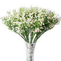Nerseki Artificial Baby Breath Gypsophila Flower Wedding Home Decor Gift (White 15pcs)