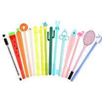 15 Pieces Cute Cartoon Gel Ink Pens Assorted Style Writing Pens for Home Office School Party Kids Gift, 15 Styles