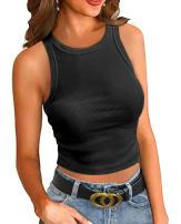 MOLERANI Women Tank Tops Summer Sleeveless Basic Top Slim Knit Shirt Ribbed Blouses