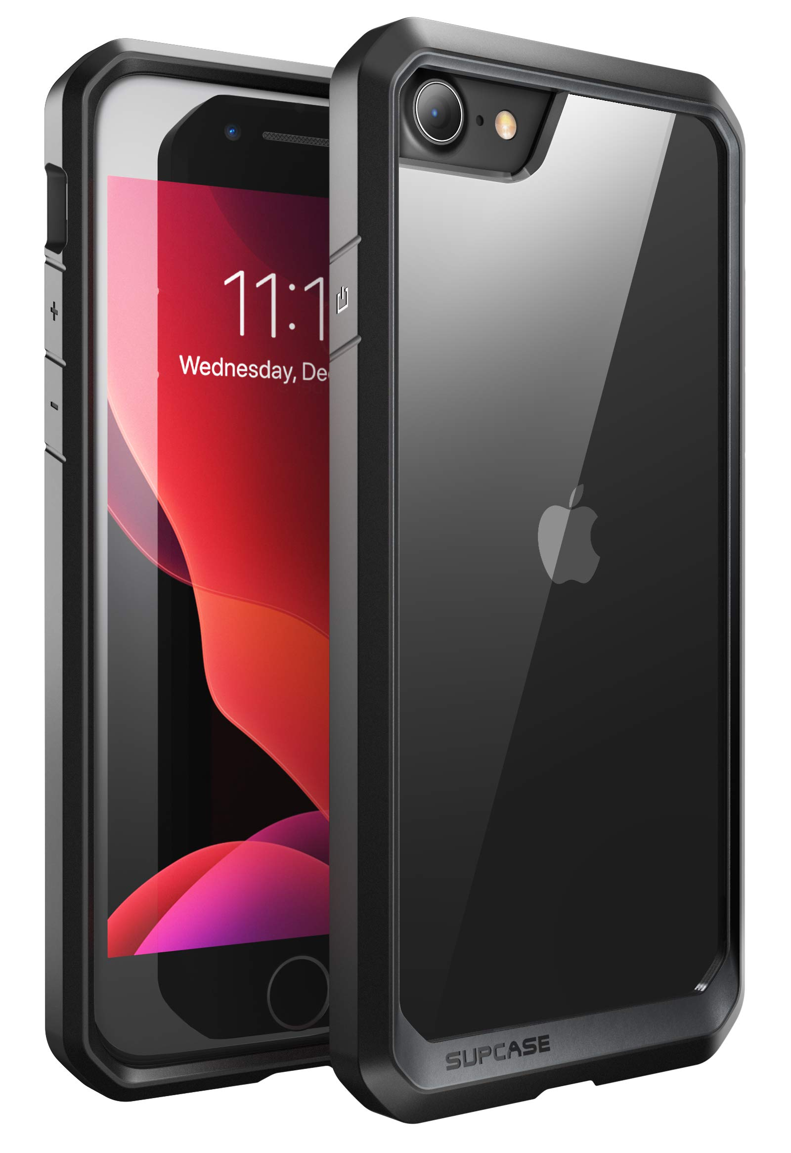 SupCase Unicorn Beetle Series Case Designed for iPhone SE 2nd Generation/iPhone 7/iPhone 8, Premium Hybrid Protective Frost Clear Case (Frost/Black)