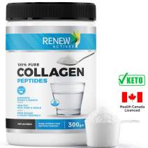 Hydrolyzed Bovine Collagen Peptides Powder: Renew Actives 100% Grass Fed Bovine Collagen - Unflavored Powdered Bone Broth Collagen Supplement for Healthy Skin, Hair, Joints - Keto and Paleo Friendly