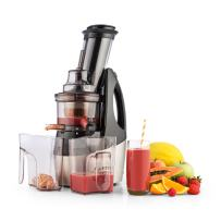 KLARSTEIN Juicinator Slow Juicer • 240 W • Fruit and Vegetable Cold Press Juice Extractor • Smoothie and Sorbet Maker • Reverse function • BPA Free • Quiet Operation • Stainless Steel Housing • Black