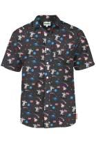 Tipsy Elves Men's USA Patriotic Hawaiian Shirt - American Flag Button Up Shirts for Guys