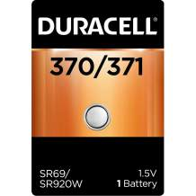 Duracell - 376/377 Silver Oxide Button Battery - long lasting battery - 1 count