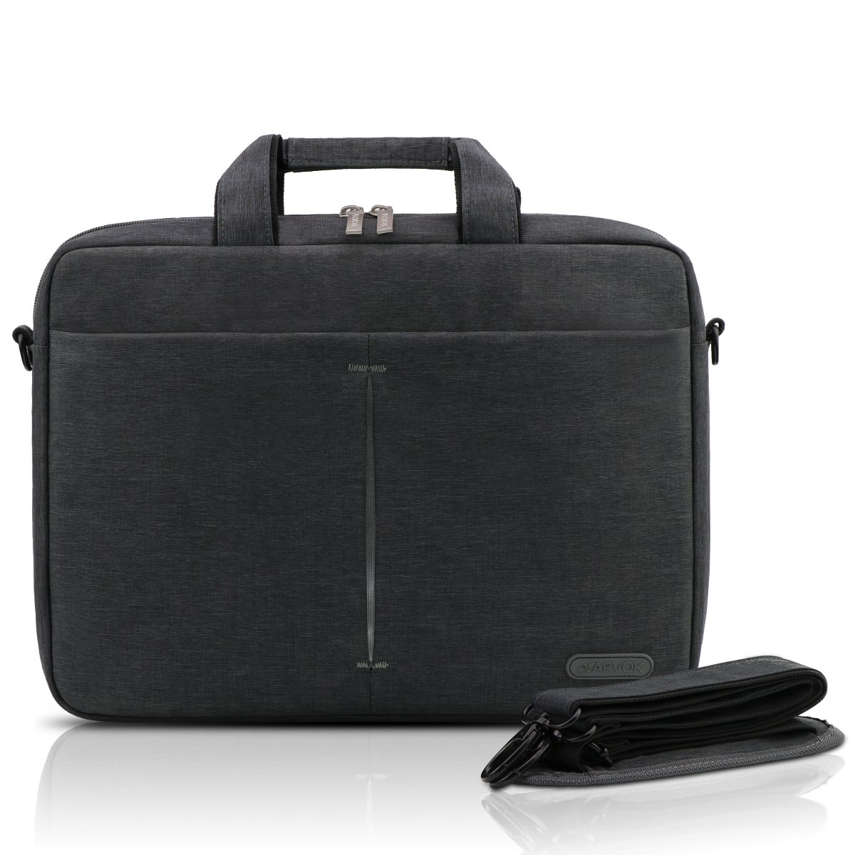 Arvok 15-16 Inch Laptop Bag Multifunctional Briefcase Water-Resistant Sleek Fabric with Handle and Shoulder Strap/Notebook Messenger Carrying Case