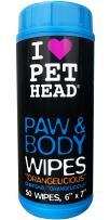 Paw & Body Wipes, 50 pack, Orangelicious