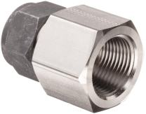 """Parker CPI 12-12 GBZ-SS 316 Stainless Steel Compression Tube Fitting, Adapter, 3/4"""" Tube OD x 3/4"""" NPT Female"""