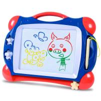 SGILE Magnetic Drawing Board, Doodle Board Drawing Writing Sketching Pad for Toddlers Kids, Navy