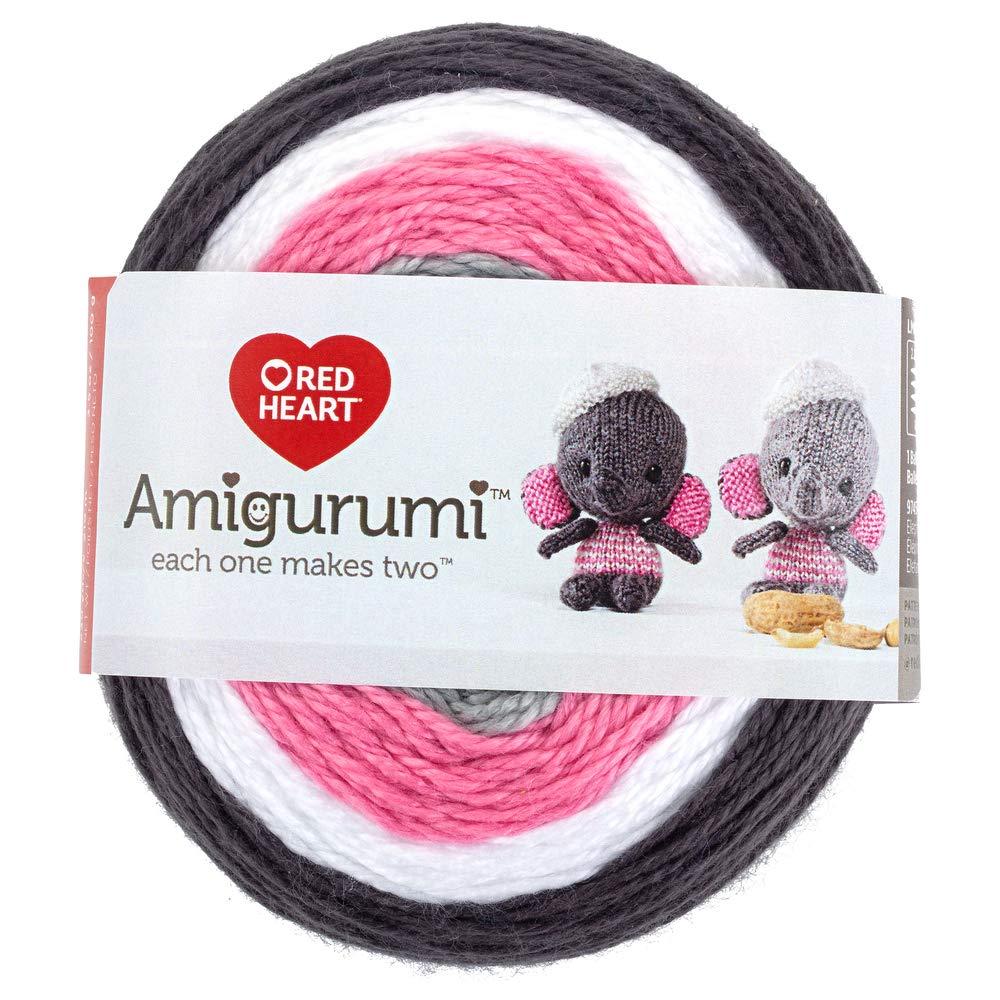 RED HEART E885. 9745 Amigurumi Yarn, Elephant