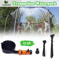Landrip Trampoline Sprinkler,Trampoline Spray Water Park Fun Summer Outdoor Kids Water Sprinkler Game Toys Trampoline Accessories(32.8 Feet)