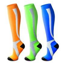 Compression Socks Knee High for Women & Men Knee High Sock 15-20mmHg Best for Running,Nurse,Sport,Travel,Pregnancy