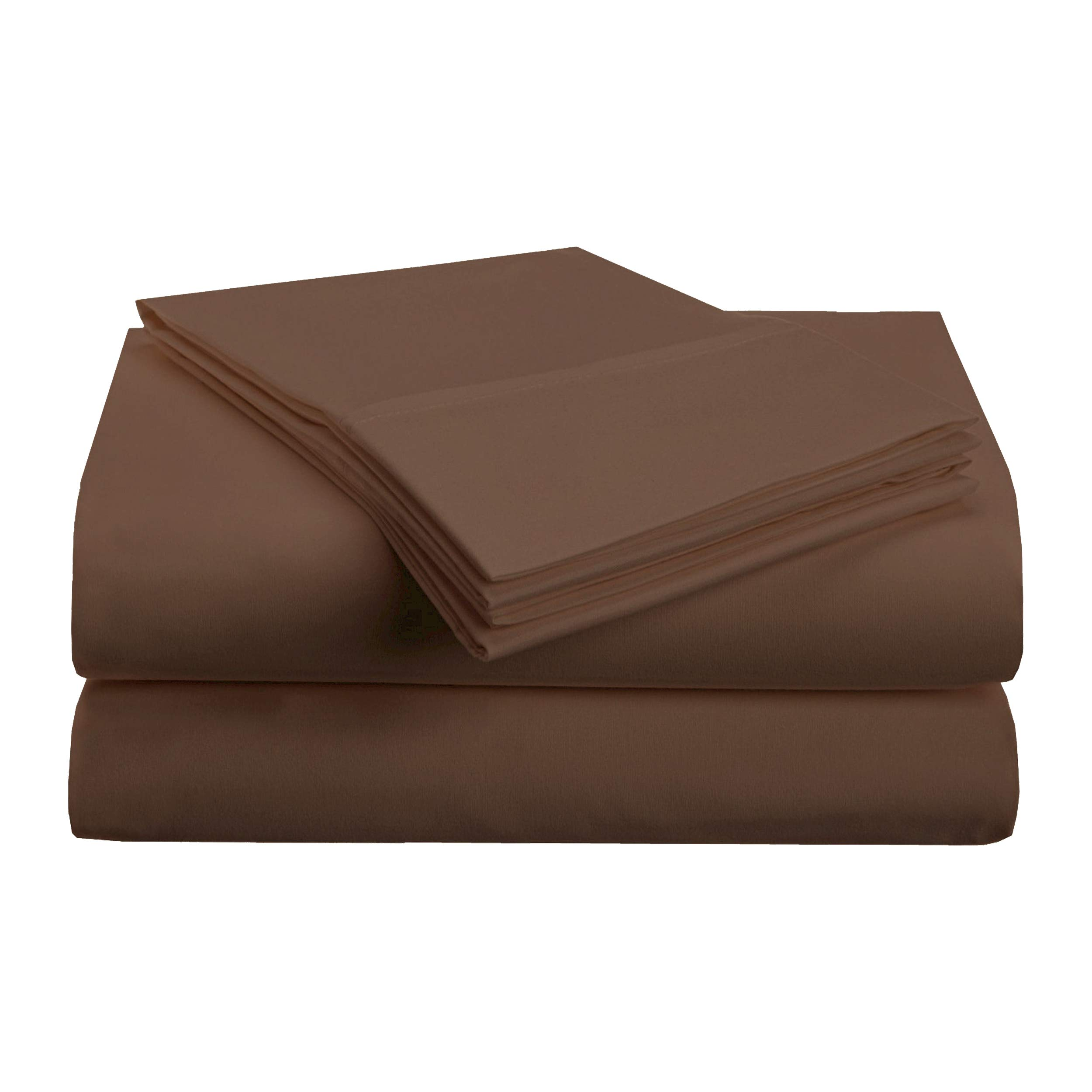 Superior 1500 Series Premium Quality 100% Brushed Soft Microfiber 3-Piece Luxury Deep Pocket Cooling Bed Sheet Set, Hypoallergenic, Wrinkle and Stain Resistant - Twin XL, Mocha