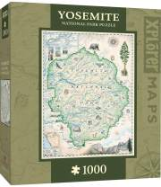 MasterPieces Xplorer Maps Jigsaw Puzzle, Yosemite, National Park, 100% Made in USA, 1000 Pieces
