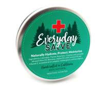 Menthol Scented Salve Moisturizer Balm Ointment by Everyday | All Natural, 100% Organic | Revitalizing Skin & Healing Salve | Lips, Face & Hand All Purpose Moisturizing Salve | Premium USA Made 2oz