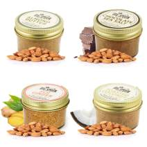 Big Spoon Roasters Almond Butter Variety Pack - Classic Almond Butter, Dark Chocolate Almond Butter, Ginger Almond Butter, Coconut Almond Butter - All Natural Almond Butter Sampler - 3 Ounces Each