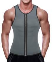 RIBIKA Mens Sweat Vest Weight Loss Neoprene Sauna Suit Waist Trainer Tank Top Workout Running Shirt
