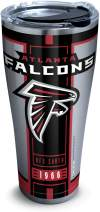 Tervis 1317740 NFL Atlanta Falcons Blitz Stainless Steel Insulated Tumbler with Clear and Black Hammer Lid, 30 oz, Silver