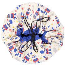 PlayGo Play&Go_5425038799699 Play & Go Designer Collab Storage Bag Superhero, Diameter-140 cm, Multi Colour, One Size