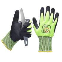 Cut Resistant Gloves,Strengthen Between The Thumb & Index Level 5 Protection
